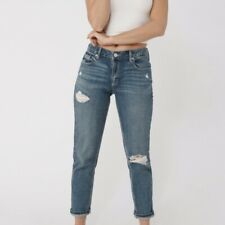"&denim Women's Blue Ripped Distressed ""Girlfriend Fit"" Jeans 28"