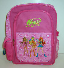 "WINX CLUB Small PINK 12"" BACKPACK School Bag Travel Tote w/Drink Bottle NEW!"