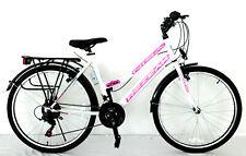 24 zoll Kinderfahrrad Mädchenfahrrad  21 gang  Cityfahrrad  city bike Weiss  Neu