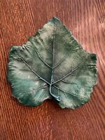 Vintage VIETRI Hand Painted Italy 7 X 7 Green Fig Leaf bread butter plate