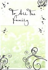 Various To All The Family Sympathy Cards - NEW