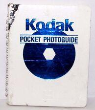 Kodak Pocket Photoguide 1989 Exposure Light meter Flash Guide 40 pages English
