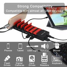 DIYOO 7 Port USB 3.0 Super Speed Hub Charging Stand w/ Adaptor - EU / 2 Pin Plug