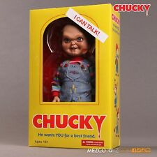 MEZCO TOYZ CHILDS PLAY TALKING SNEERING CHUCKY 15 INCH DOLL ACTION FIGURE
