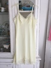 Vintage 1960's Light Ice Yellow Lace Full Slip by Shadowline Ladies Women Sexy A