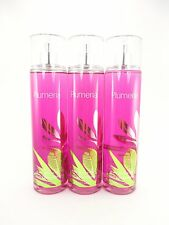 Bath Body Works 3 Plumeria Fine Fragrance Mist 8oz Body Splash Spray New