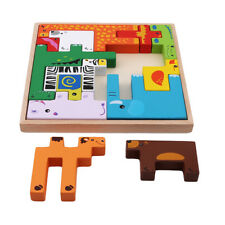 Wooden Puzzles Animal Creative Puzzle Intellectual Puzzle Brain Training Toy JD