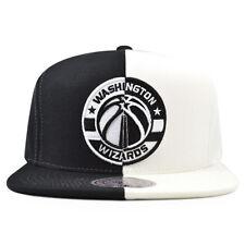 separation shoes 3fc82 2a086 Washington Wizards SPLIT Black White Snapback Mitchell   Ness NBA Hat