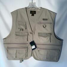 NWT White River Fishing Vest 2 Pocket Beige Size L