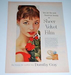 Vintage 1957 Dorothy Gray Sheer Velvet Film Liquid Foundation Make Up