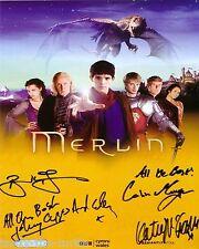 Merlin Cast 8 x 10 Autograph Reprint  Colin Morgan  Bradley James  +2
