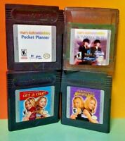 Mary Kate and Ashley 4 Game Lot Bundle for  Nintendo Game Boy Color GBC