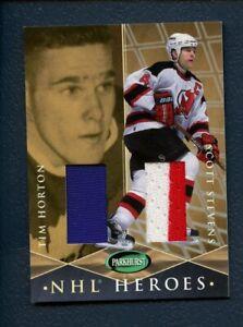 2001-02 ITG - NHL HEROS  #H-12 TIM HORTON PANTS - SCOTT STEVENS JERSEY (SLOTH55)
