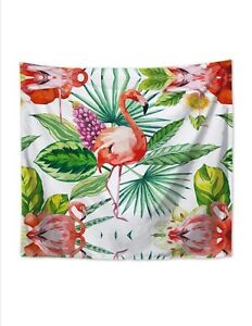 Tropical Print Tapestry Wall Hanging Decor Flamingo Home decoration 150x130cm UK