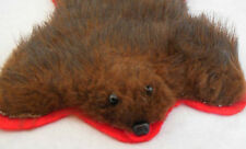 "Dollhouse Handcrafted Brown Fur Bear rug great for cozy cabin 6"" x 8"" 1:12 scale"