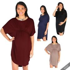 Viscose Patternless Casual Maternity Dresses