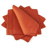 Table Napkins / Set of 4 / Multiple Colors / Solid / 40 x 40 cm / 100% Linen