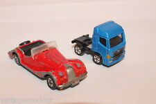 Tomica Tomy - Morgan Plus 8 #F26 Made in Japan & Hino Profia Cab Made in China