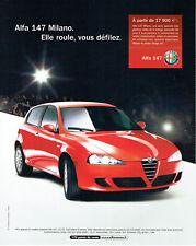 Publicité Advertising 117  2006  Alfa Romeo  Alfa 147  Milano