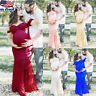Pregnant Women Off-shoulder Lace Long Maxi Dress Gown Maternity Photography Prop