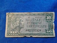 US 10 CENTS CENTS MILITARY PAYMENT CERTIFICATE , SERIES 611