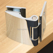 2PCS Frameless Glass Shower Door Hinge Polished Chrome Wall to Glass Brass Hinge