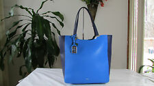 NWT Ralph Lauren Acadia Shopper Tote Bag Cyan Marin
