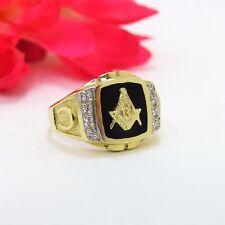 Masonic Ring 14 K Yellow Gold & Onyx .16 Dia. w/ Horseshoe Size 10.5