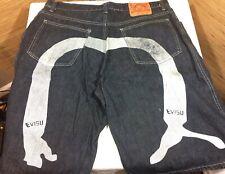 Evisu Men's Size 40 Jean Denim Shorts Rare