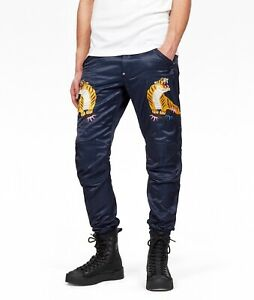 G Star Raw 5622 Elwood Sartho Blue Tapered Color Pharrell Jeans Size 38x34