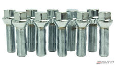 10x 50mm ICHIBA 14x1.5 M14 P1.5 WHEEL RIM EXTEND LONG LUG BOLT TAPER SILVER b