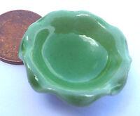 1:12 Scale Single Green Bowl Dolls House Miniature Ceramic Fruit Accessory G14
