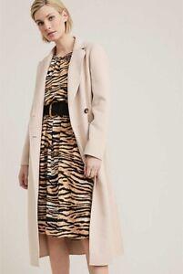 new $170 14 M L Witchery Dress TIGER ANIMAL PRINT long CURRENT black brown tan