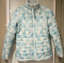 The North Face Blue White Snowflake Reversible Quilt Jacket US Kids/Girls XL(18)