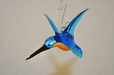 Glastiere Glasfigur Glasvogel Eisvogel, Handarbeit -Neu-