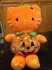 Build A Bear Rare Hello Kitty Orange Halloween Pumpkin costume large plush