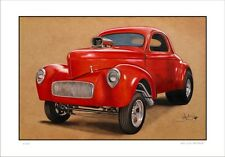 41'  WILLY'S    HOTROD  DRAG CAR      LIMITED EDITION