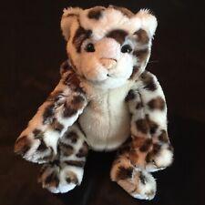 "Build a Bear BAB 15"" Snow Leopard Rich Plush Stuffed Animal Retired SANITIZED"