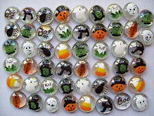 Halloween mix painted glass gems party favors decorations ghost pumpkin cat