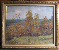 Oil painting Autumn Ukraine USSR 1960-1970s