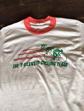 Vtg 7-Eleven Cycling Team 7-11 80s Ringer Paper Thin Jim Ochowicz Tour De France