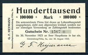 Gückelsberg - Flöha 100.000 Mark G.F.Heymann Baumwollspinnerei .............z929