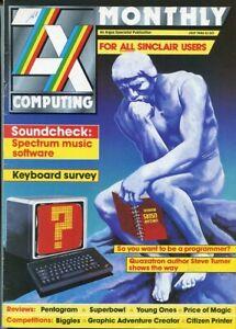 D208875 ZX Computing Vintage Computer Magazine July 1986