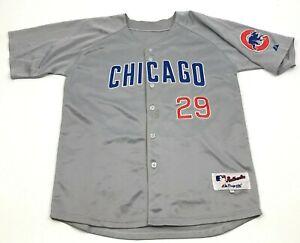 Majestic Jeff Samardzija Chicago Cubs Baseball Jersey Size 48 Gray Blue Sewn On