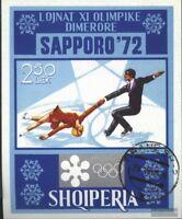 Albanien Block44 (kompl.Ausg.) gestempelt 1972 Olymp. Winterspiele, Sapporo