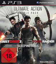 Just Cause 3 Sleeping Dogs Tomb Rider 3er Pack Playstation 3 Ps3 Spiel Neuwertig