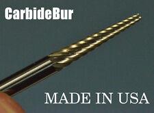 "New listing Solid Carbide Burr Sm-43 Single Cut 1/8"" Cone Pointed Tool Bur Bit"
