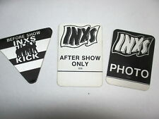 INXS satin cloth backstage passes 3 AUTHENTIC KICK COOL PASSES !