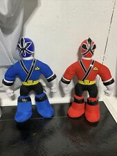 Lot Of 2 - Power Rangers Samurai Plush with Blue Red 2012