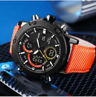 SMAEL Men's Military Sport Digital Analog Waterproof Quartz Nylon Wrist Watch
